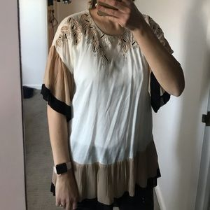 Beaded Anthro top -perfect for the holidays!